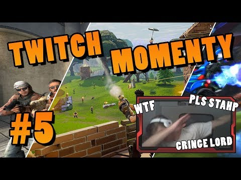 Twitch Momenty #5│CS:GO, Fortnite: BR, Rocket League