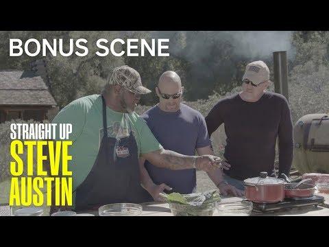 Straight Up Steve Austin   Bonus Scene: Trace Adkins Makes Collared Greens   S1 Ep 6   USA Network