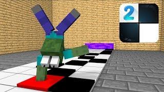 Monster School : NOOB VS PRO PIANO TILES CHALLENGE   Minecraft Animation
