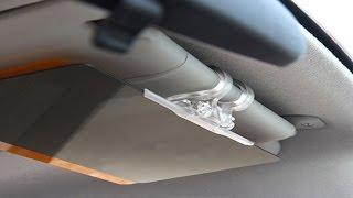 Антибликовый солнцезащитный козырек для автомобиля HD Vision Visor Clear View! от компании Телемагазин - видео