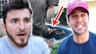 OUR CARS WERE BROKEN INTO!!