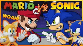 Sonic and Tails REACT to Mario Vs Sonic - Cartoon Beatbox Battles