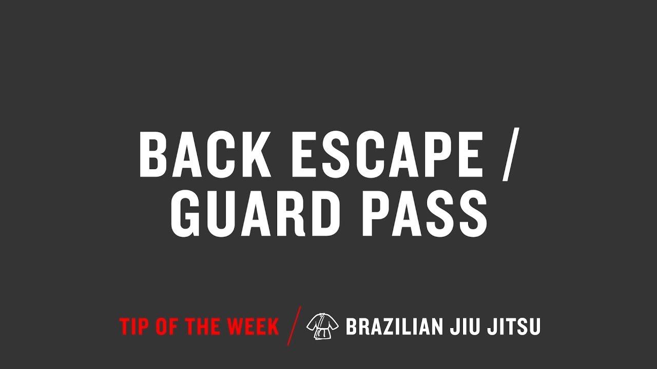 Back Escape Guard Pass