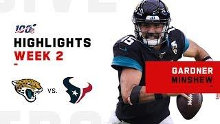 Gardner Minshew Highlights vs. Texans | NFL 2019