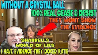 Without A Crystal Ball Taking Legal Action Against Sharrells World & Steve McRae (the paper is real)