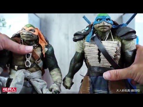 Threezero《忍者龜:變種新任務》1:6人偶系列「李奧」(Leonardo)及「米開朗基羅」(Michelangelo) 開箱