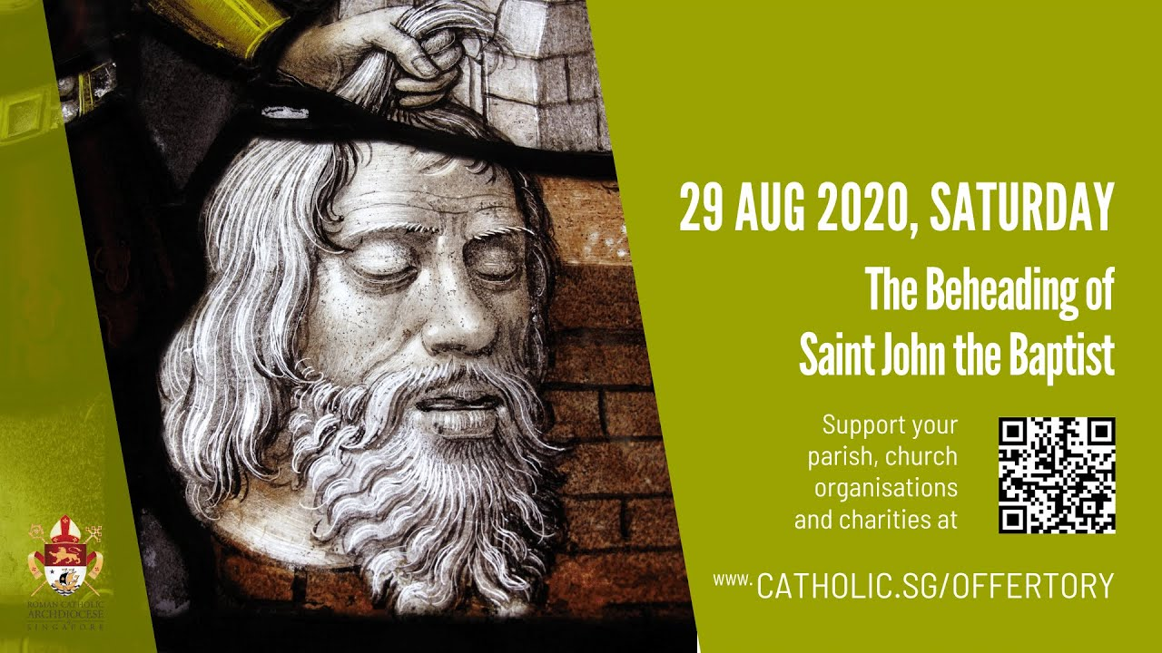 Catholic Saturday Mass 29th August 2020 Today Online - Livestream