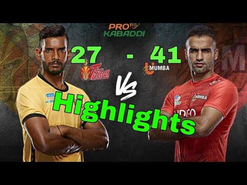 Highlights u Mumba vs Telugu Titans Pro Kabaddi 2019