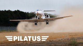 World Premiere: the Pilatus PC-24 Landing on an Unpaved Runway