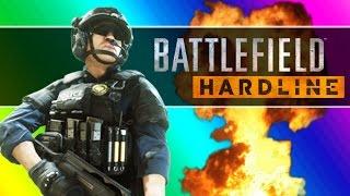 Battlefield Hardline Beta Funny Moments - Following Fun, Motorcycle Friends, Climbing Up The Crane!