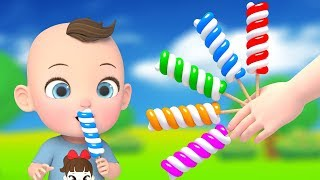 Lollipops Finger Family Song Nursery Rhymes | Super Lime And Toys