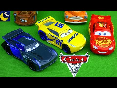 NEW Disney Cars 3 Diecast 2017 Jackson Storm Cruz Ramirez Lightning Mcqueen Race Cars Movie Toys