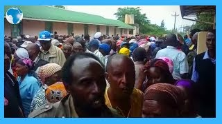 Residents queuing to get title deeds at Solai ACC office