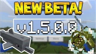 NEW MCPE 1.5.0.0 BETA! Minecraft Pocket Edition - Underwater Horses & Treasure Dolphins!