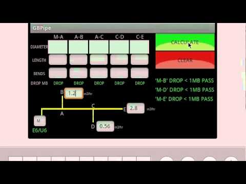 Video of GB Gas Pipe Sizing Calculator