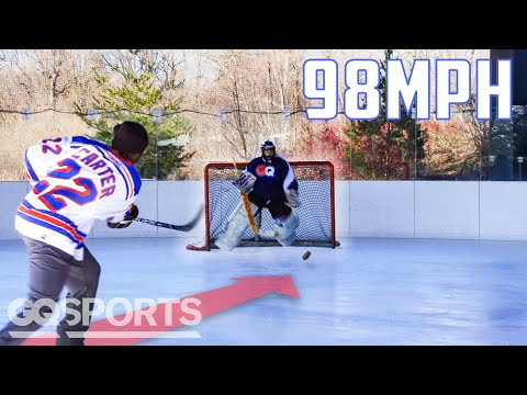 Can an Average Guy Stop a Hockey Pro's 98MPH Slap Shot? | Above Average Joe | GQ