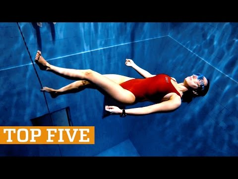 TOP FIVE: Deep Pool Freediving, Skiing & Martial Arts | PEOPLE ARE AWESOME 2017