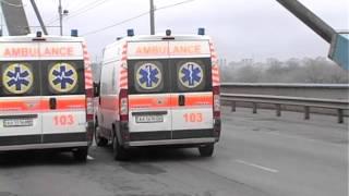 Авто ЧП. Авария на Московском мосту. Столкнулись три легковушки и грузовик