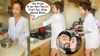 Malaika Arora Cooks Food For Arjun Kapoor Wearing TRANSPARENT Shirt During Lockdown