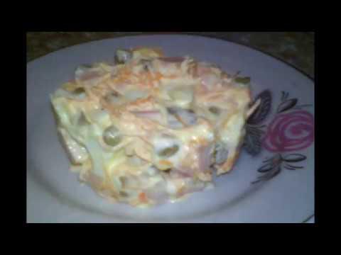 """Салат """"Горошек"""" - Очень вкусный и нежный, измененный рецепт  салата """"Оливье"""""""