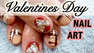 Valentines Inspired How-to Japanese Nail Art [English Subs] バリンタインネイルアート