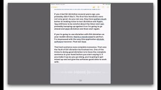 Comparison of Dragon and Siri Dictation Voice to Text Technologies on the Mac and iPad