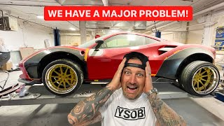 MY WIDEBODY FERRARI BUILD IS A DISASTER... I HATE THIS CAR!  *NEW WHEELS*