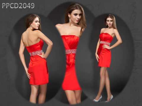 Schöne Kurze Rote Abendkleider Online Günstig Kaufen PERSUN