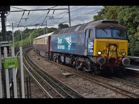 Direct Rail Services 57306 & 57303 arrive at Durham with the…