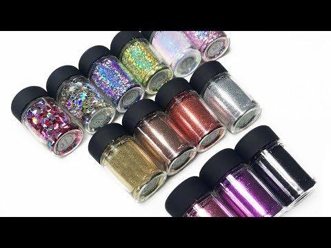 MAC new glitter swatches 2018   13 new shades   Sabrina Anijs
