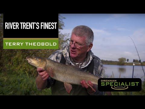 Barbefiskeri med Terry Theobald i River Trent i England