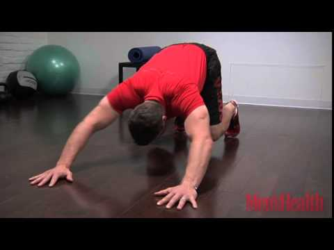 Reverse Pushup Burpee to Stand and Curl
