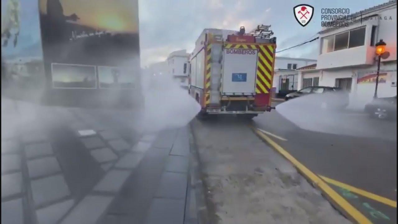El camión de Bomberos desinfectará las calles