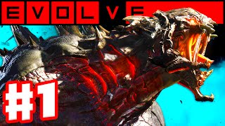 Evolve - Gameplay Walkthrough Part 1 - Evacuation! Hunters vs. Goliath Monster! (Evolve PC Gameplay)