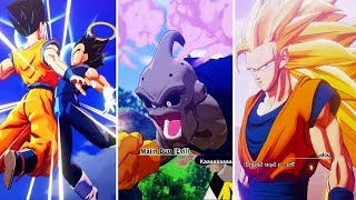 Dragon Ball Z: Kakarot - ALL CHARACTERS TRANSFORMATION Scenes (Vegito,Super Bubu,Majin,Super Saiyan)