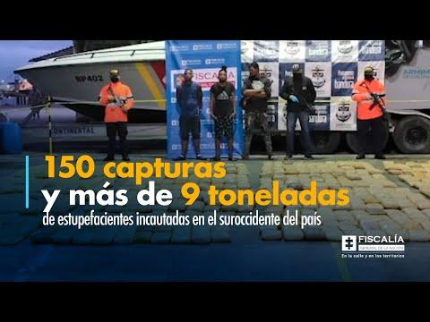 Fiscal Francisco Barbosa: 150 capturas y más de 9 toneladas de estupefacientes incautadas