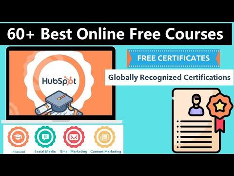 60+ Free Best Online Certification Courses | Free Hubspot Online ...