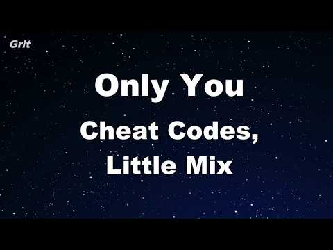 Only You Cheat Codes Little Mix Karaoke 【no Guide Melody】 Instrumental