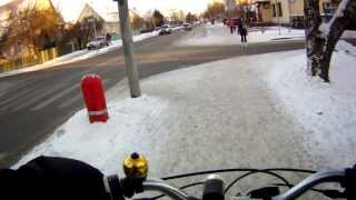 preview picture of video 'Winter city biking,'