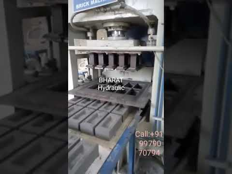 Bharat Automatic Fly Ash Brick Making Machine with Vibro 12cvt. - BHA-302B