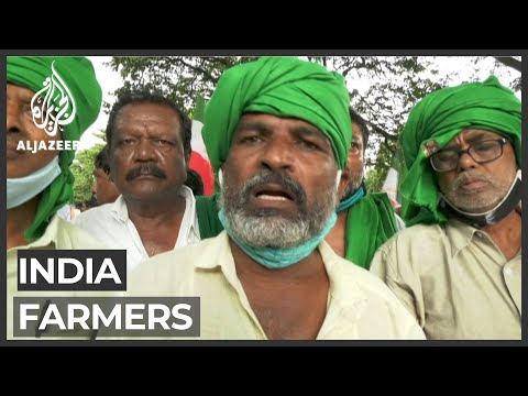 Indian farmers protest against alleged