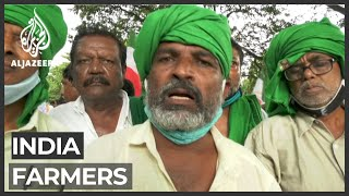 """Indian farmers protest against alleged """"exploitative"""" new laws"""