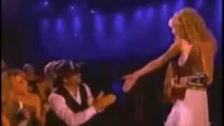 "Tim McGraw (Live at the ACMS 2007) - Taylor Swift - Singing ""Tim McGraw"" to Tim McGraw"