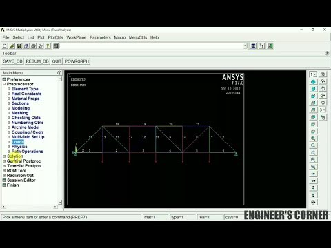 STRESS AND DEFLECTION ANALYSIS OF 2D TRUSS USING ANSYS - PRANAV