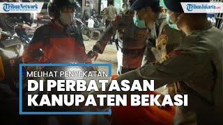 Melihat Penyekatan di Kedungwaringin Perbatasan Bekasi-Karawang, Ratusan Personel Disiagakan
