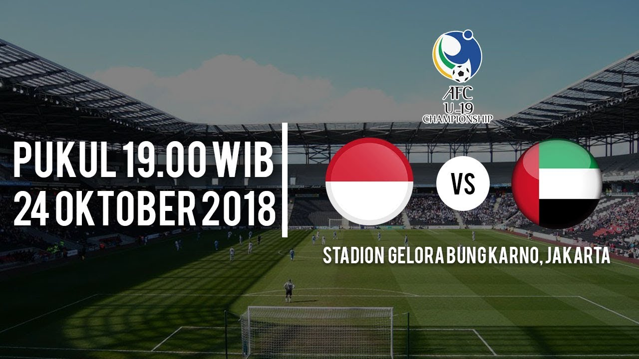 Indosiar Streaming Facebook: Live Streaming RCTI Piala AFC U-19 Indonesia Vs Uni Emirat