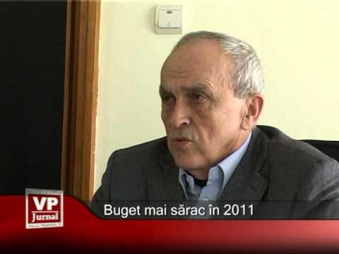 Buget mai sărac în 2011