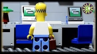 Lego Simpsons Office  If Homer Simpson Worked In Office