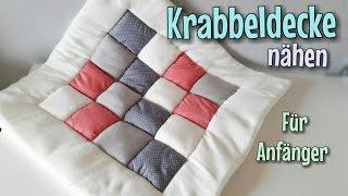 Patchwork Krabbeldecke - Nähanleitung - Für Anfänger - Nähtinchen