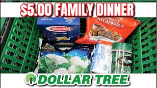 $5 FAMILY DINNER FROM DOLLAR TREE | COOKING ON A BUDGET